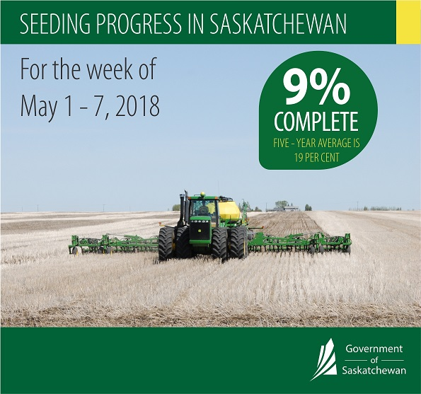 Crop Report for the Period May 1 to 7, 2018 Agriculture SouthWest Saskatchewan  Crops